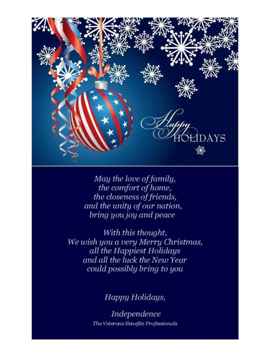 Merry Christmas from Independence - The Veterans Benefits Professionals! - Blog
